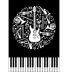 Music concept circle vector