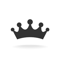 Crown of earl black isolated silhouette on vector