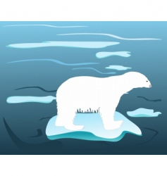 Warm times for polar bears vector