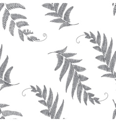 Branches and leaves grey vector