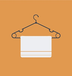 Clothes hanger flat icon vector