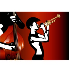 Musicians black and white vector