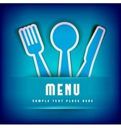 Restaurant menu card design template vector