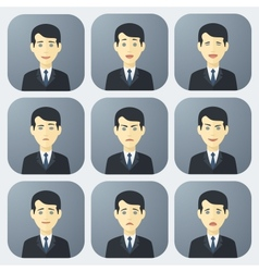 Emotions of businessman vector
