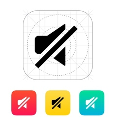 Turn off sound icon vector