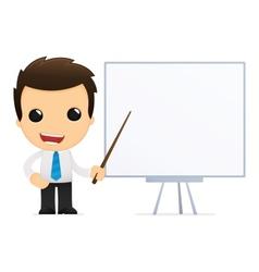 Cartoon office worker vector