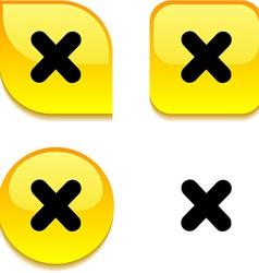 Cross glossy button vector
