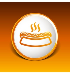 Appetizing hotdog such logo version also available vector