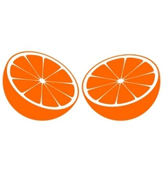 Orange bisected in half vector