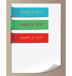 Color bookmarks ribbons vector