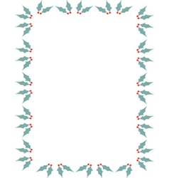 Holly border vector