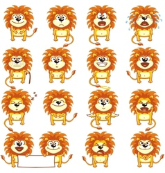 Smiley lions vector