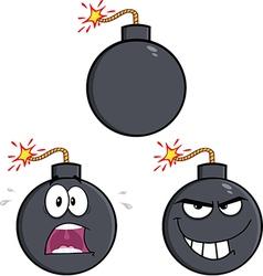 Cartoon bomb design vector