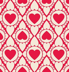 Romantic seamless pattern with heart shapes vector