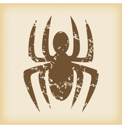 Grungy spider icon vector