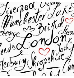 Travel england destination seamless pattern vector