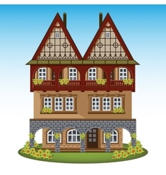 Old style house of historical city center vector