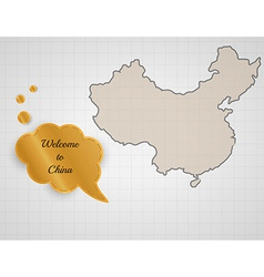 Welcome to china vector