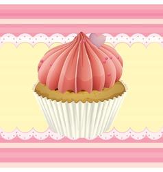 Cupcake and a wallpaper vector