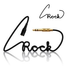 Jack connectors rock calligraphy vector