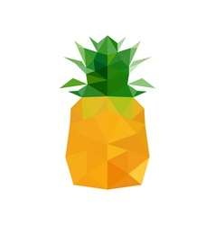 Abstract origami pineapple vector