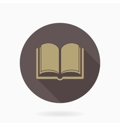 Fine book icon with flat design vector