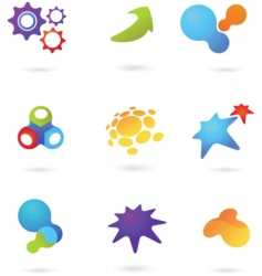 Abstract icons and logos vector