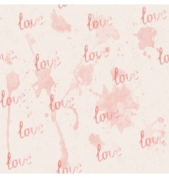 Seamless pink background with watercolor stains vector