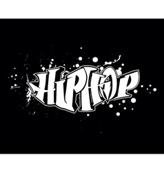Hip-hop graffiti vector
