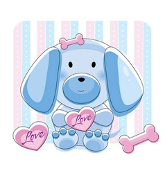 Doggy love vector