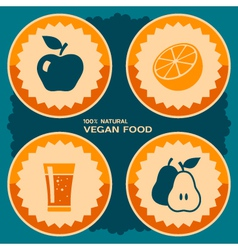 Vegan food poster design vector