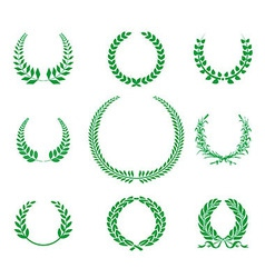 Greenlaurel wreaths collection vector