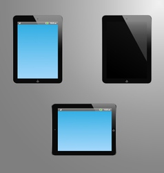 A tabled with editable screen vector