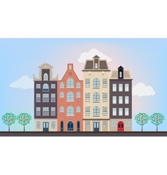 Urban european houses vector