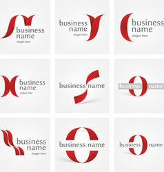 Logo ribbon vector