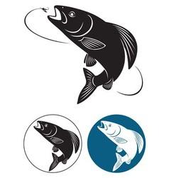 Fish grayling vector