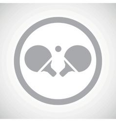 Grey table tennis sign icon vector