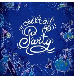 Invitation card to cocktail party vector