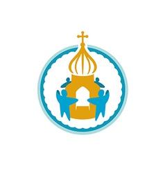 Church fundraising logo template vector