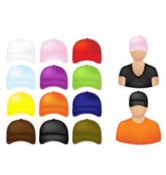 Baseball cap icons vector