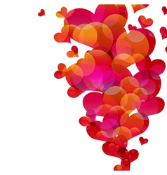 Abstract fly hearts image vector