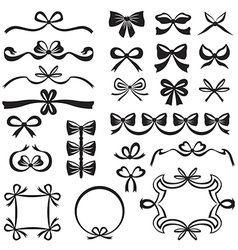 Bow decor vector