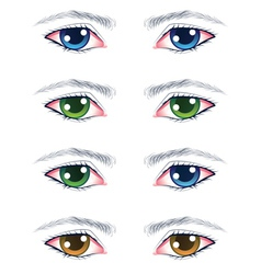 Colorful male eyes vector