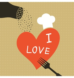 Cooking love vector