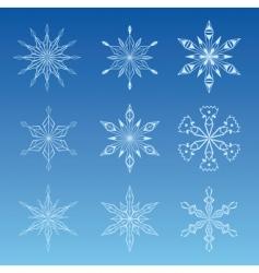 illustration of snowflake vector