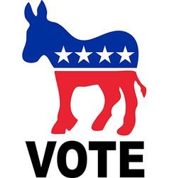 Democrat donkey vector