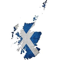 Scotland map grunge mosaic vector