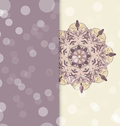 Circle lace hand-drawn ornament card vector