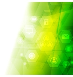 Abstract bright green tech background vector