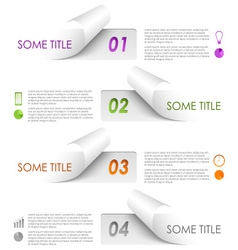 Info graphic colorful sample stickers template vector